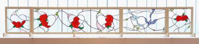 小貫 瑠里子 ― 「青い鳥とマリアージュ」壁画 / ステンドグラス