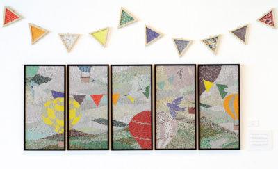 德田 なるみ ― 「みどりのかぜ」壁画 / モザイク