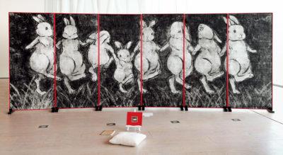 堀籠 結衣 ― 「なかま」版画 / 板紙凹凸版