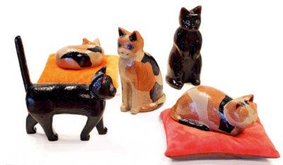 佐藤 江莉 ― 「猫達の集い」漆芸 / 乾漆