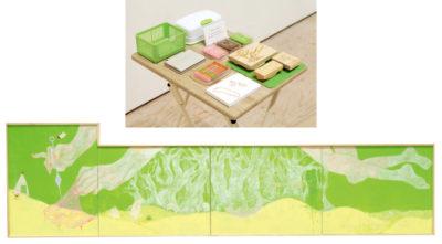 髙橋 桃子 ― 「かりを」デザイン / 油彩・消しゴムはんこ